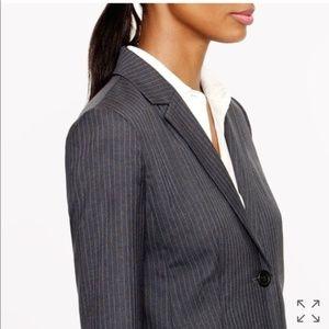 J Crew Pinstripe Jacket Blazer Italian Wool